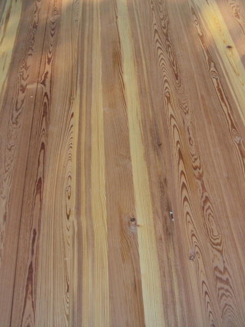 Back porch:  no teak, mahogany, or ipe for me.  Beautiful reclaimed heart pine instead.