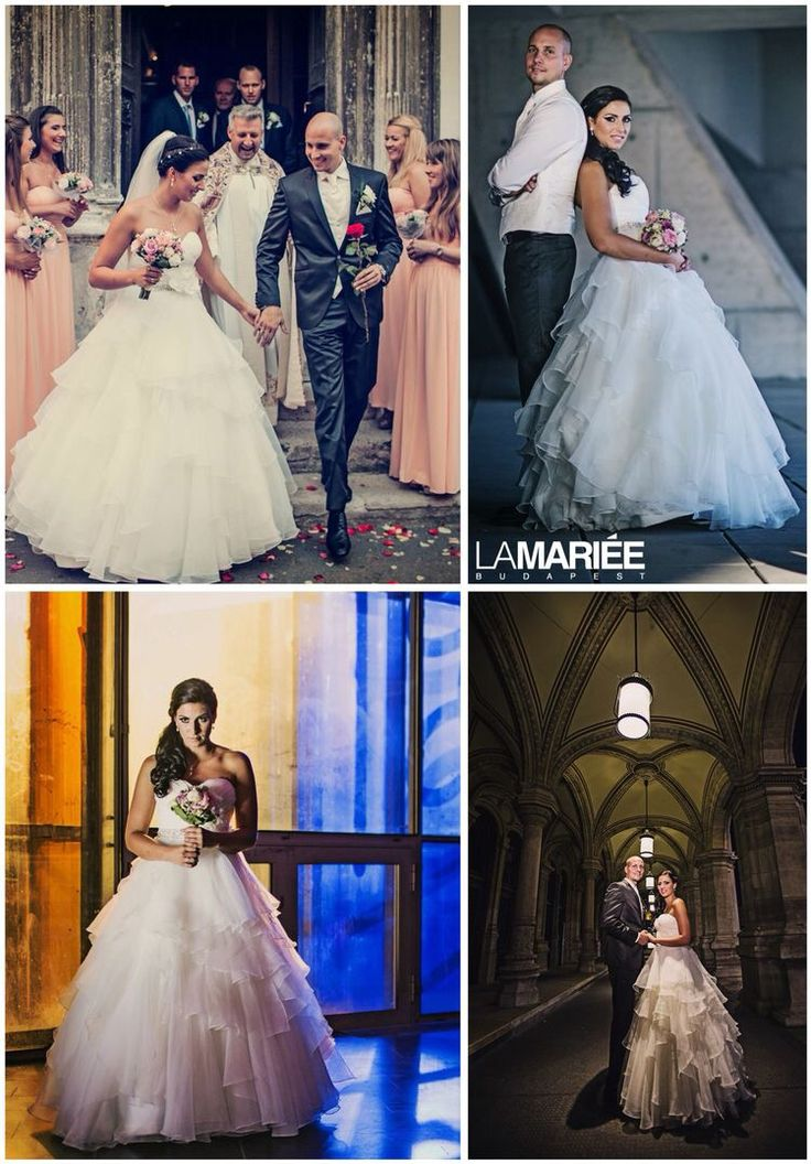Aneto esküvői ruha Aire Barcelona kollekció La Mariée szalon - Zsófia  menyasszonyunk http://lamariee.hu/eskuvoi-ruha/aire-2015/aneto