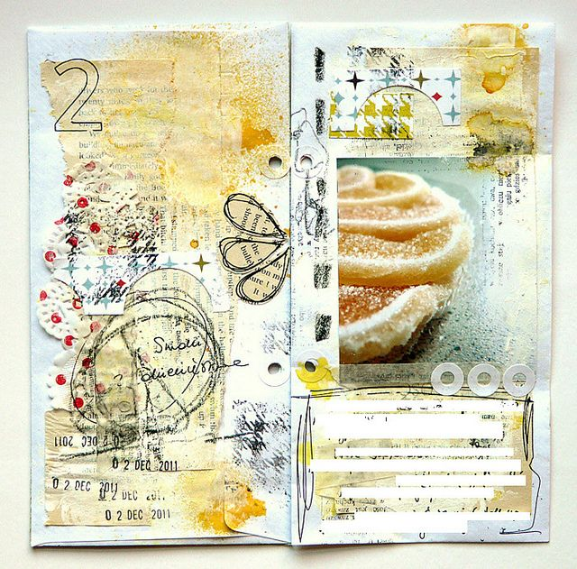 Art Journal - mumkaa on flickr...she incorporates her photos in her journals...love it.