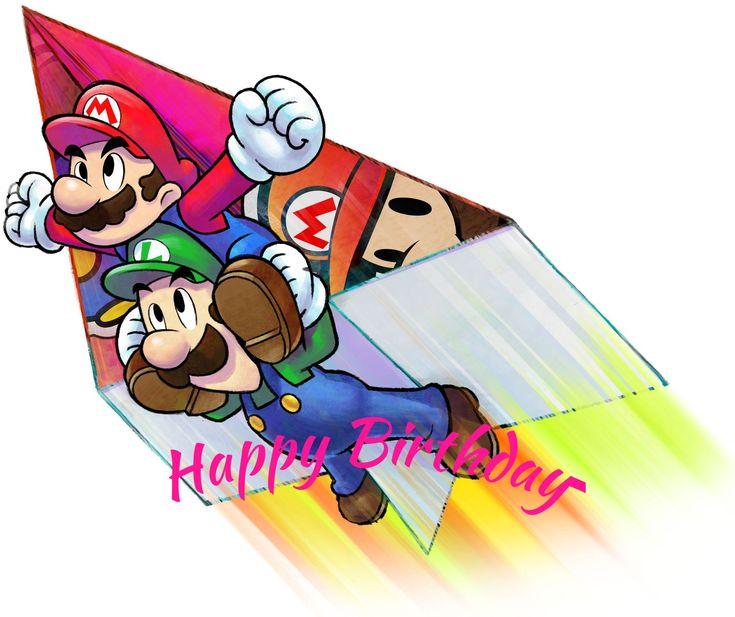 Mario Brothers Birthday Card Qd52 Advancedmassagebysara