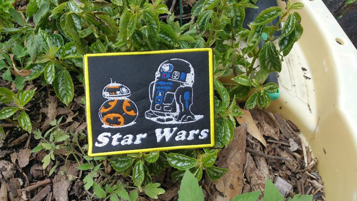 """This patch features BB8 and R2D2. This patch is sewn onto black felt. Any Star Wars fan would love this gift. This is a SEW ON patch. The droids of the Star Wars saga have been providing comic relief to these beautiful and often dark tales. They teach us that real heart comes in all shapes and sizes. A very tiny droids can carry a very powerful message. Although they may not have a heart beat, these little droids are, """"one with the Force. The Force is with them.""""   This patch measures 6"""" by…"""