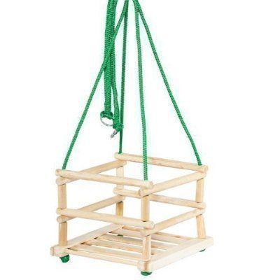 Holzgitterschaukel 35x35 Schaukel Babyschaukel Holz Gitterschaukel Holzschaukel