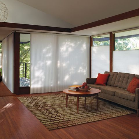 107 best images about hunter douglas vertical blinds on for Best blinds for floor to ceiling windows