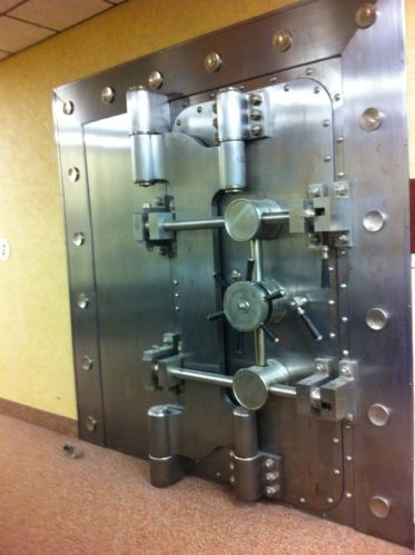 Large Huge Mosler combination BANK Vault Safe Door with front decorative panel