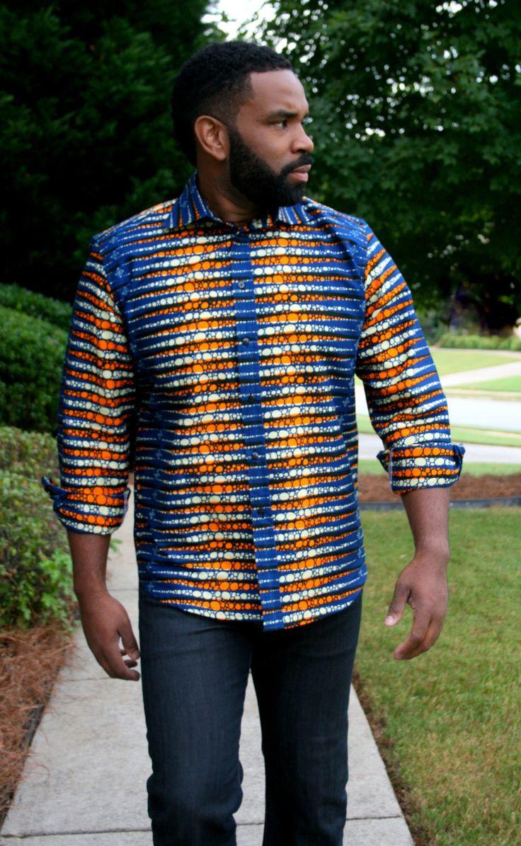 Melange Mode Men Tribal Shirt by MelangeMode on Etsy