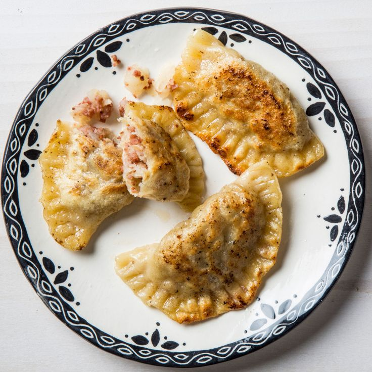 Why choose between boiled or fried? The key to these pierogies is doing both. The egg in the dough and dusting of cornstarch mean they get crisp in the pan, while boiling alone renders them chewy. If you want to have a pierogi party, check out three other fillings for Beef, Onion, and Cheddar Pierogies, Bacon, Mushroom, and Spinach Pierogies, and Cottage Cheese and Blueberry Pierogies.