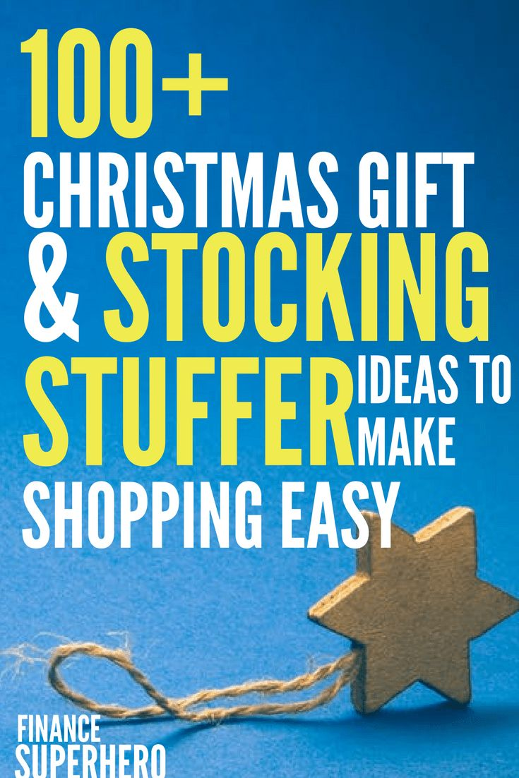 Holiday shopping has been so easy this year thanks to this list! I found over 100 awesome Christmas gift and stocking stuffer ideas for everyone on my list!