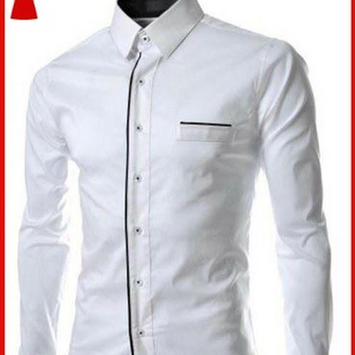 Model25smf 2 model kemeja hem pria simple Baju Murah