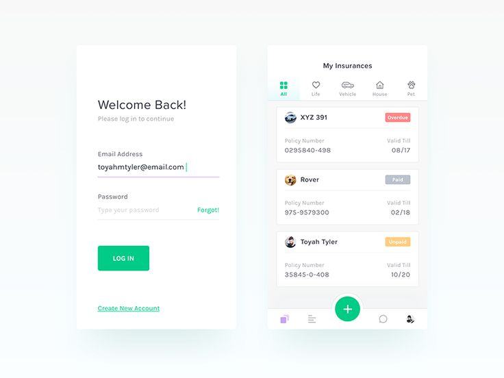 Insurance App - UI/UX Design WIP by Nimasha Perera