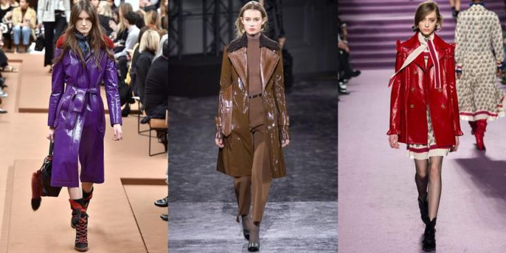 Patent Trench coats