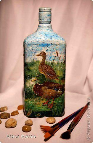 Декор предметов Декупаж ДЕКУПАЖ бутылочки новые и старые  Бутылки стеклянные Салфетки фото 21