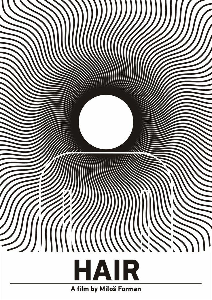 """Pictogram Movie Poster """"Hair"""". Tribute to Viktor Hertz."""