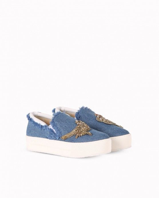 Denim slip-ons with jewels appliqué #N21 #slipons #denim #fashion #style #stylish #love #socialenvy #me #cute #photooftheday #beauty #beautiful #instagood #instafashion #pretty #girl #girls #styles #outfit #shopping
