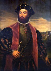 Vasco da Gama - Wikipedia  Portrait of Vasco da Gama by António Manuel da Fonseca (1838)
