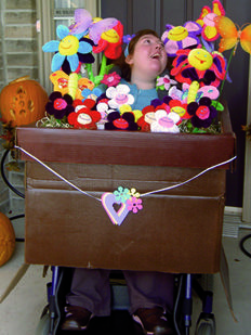 Flower Box wheelchair costume.  >>> See it. Believe it. Do it. Watch thousands of spinal cord injury videos at SPINALpedia.com