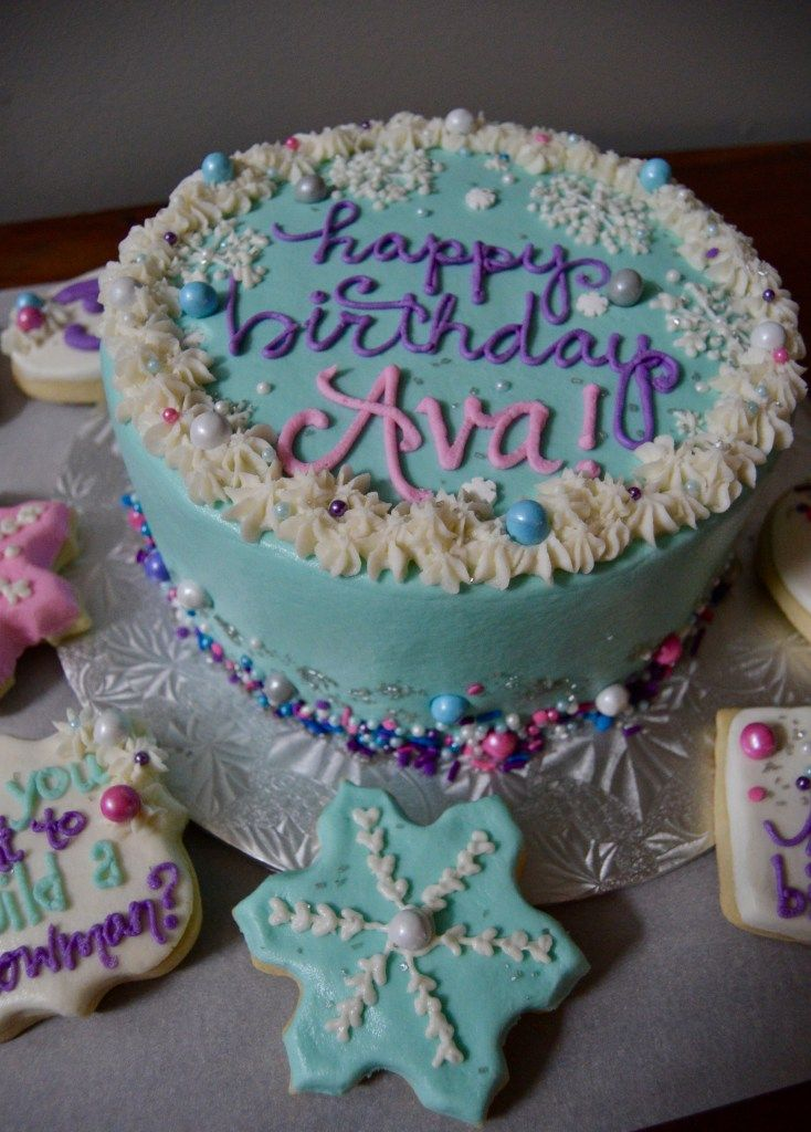 Superb Frozen Themed Treats On A Freezing Day With Images Personalised Birthday Cards Akebfashionlily Jamesorg