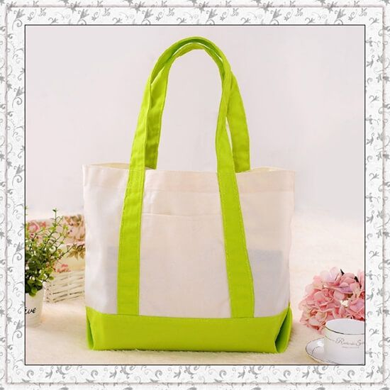 High Quality Thickening Canvas lemon color Shopping Bag