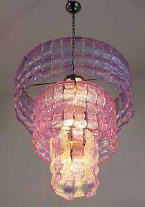 Metà Del Secolo italiano vintage Murano ENORME CANDELIERE IN STILE VENINI - 72 Bicchieri | eBay