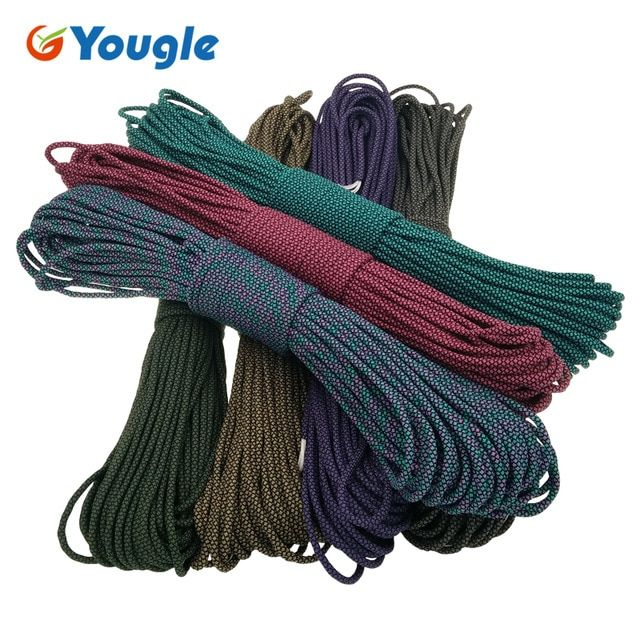 Yougle Outdoor Paracord 550lb 100ft Parachute Cord Lanyard Rope