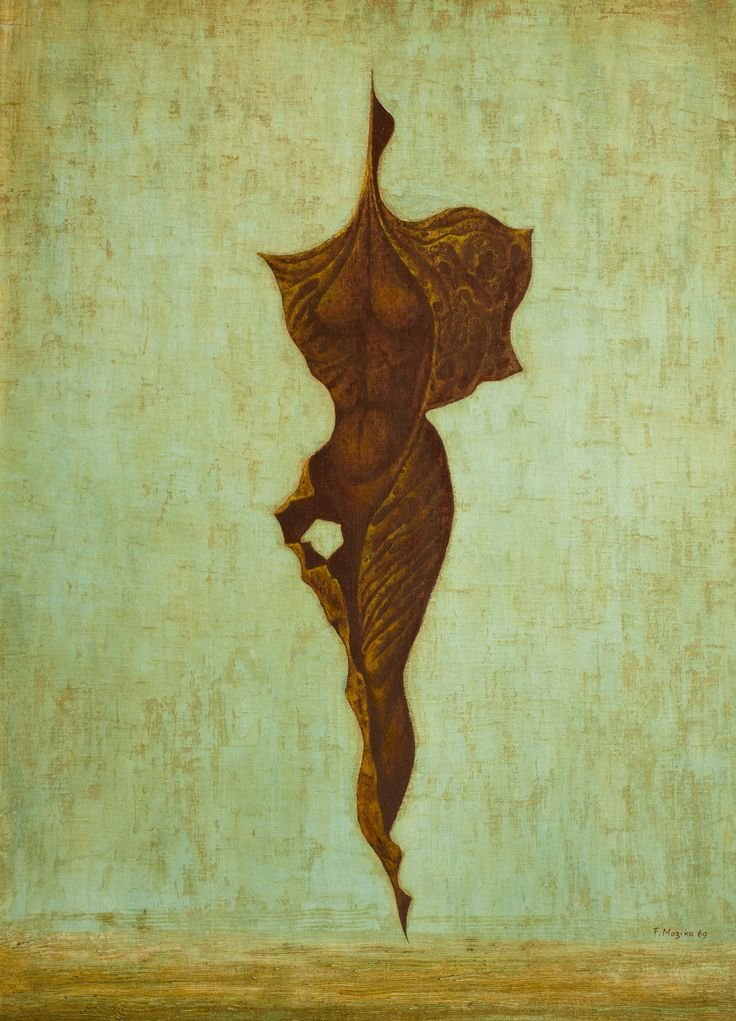 František Muzika - Larva X (1969) #painting #Czechia #art #CzechArt