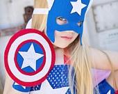 CAptain America superhero tutu costume.