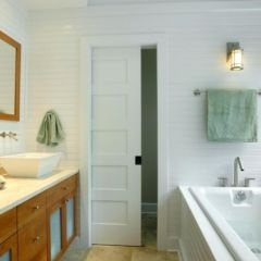 I would like to replace our bathroom door with a pocket door like this one.