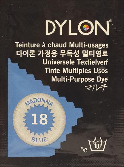 DYLON MULTI PURPOSE DYE 5g MADONNA BLUE (18)