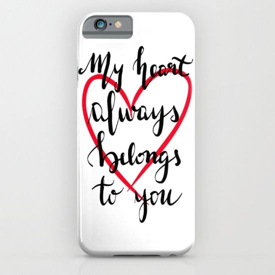 My heart always belongs to you iPhone & iPod Case