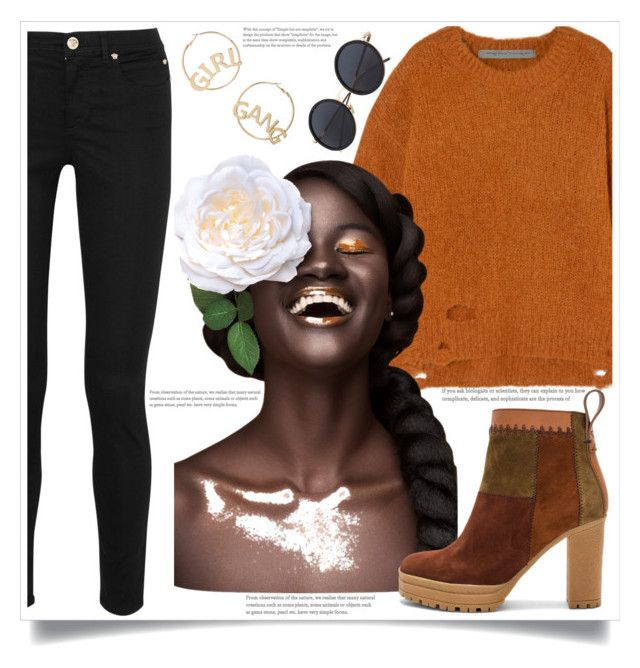 """""""What to Wear #24!"""" by ashaleethornt ❤ liked on Polyvore featuring Raquel Allegra, Versace, See by Chloé and BP."""