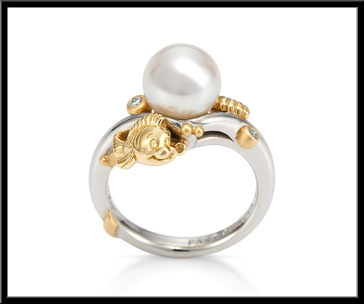 Disney Engagement Ring Little Mermaidring With Flounder A Shell And Pearl I Would If Someoneever Got Me This