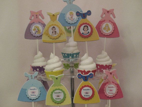 Disney Princess Cupcake Toppers by serenaspartyboutique on Etsy, $14.00