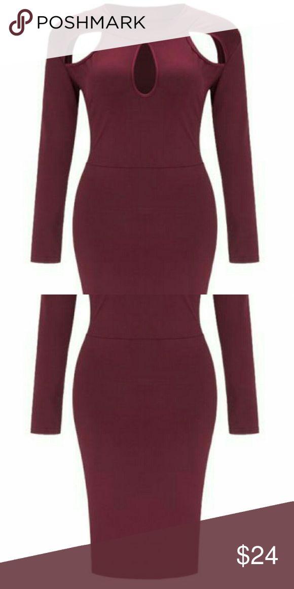 Dresss Solid autumn  long-sleeves cut out dress Dresses Mini