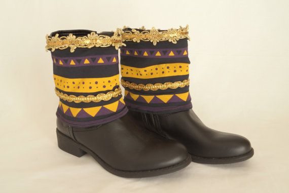 Aztec print boho boot cuffs-Boho boot covers Gypsy boot by bstyle