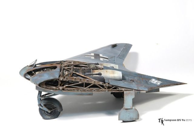 Ho-229 Horten, ZOUKEI-MURA 1/32 scale. By Sampson WS Yu.  #scale_model