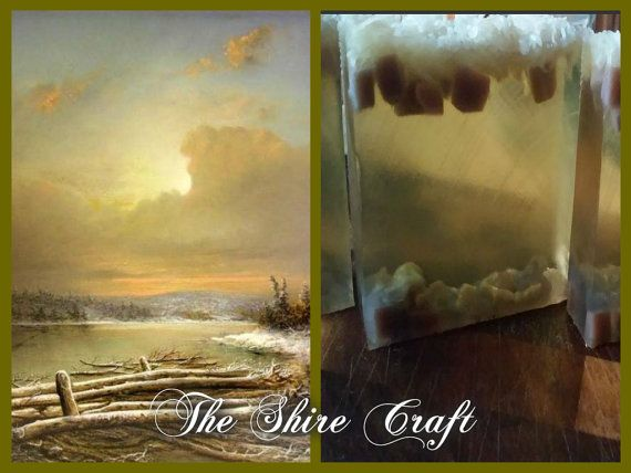 Frosted Lake  Natural Handcrafted Soap by TheShireCraft on Etsy