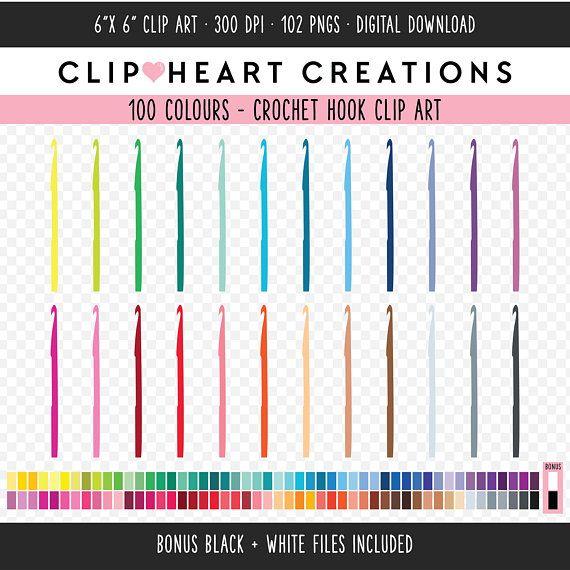 100 Crochet Hook Clipart Commercial Use Instant Download Png Etsy Clip Art Crochet Hooks Planner Clips