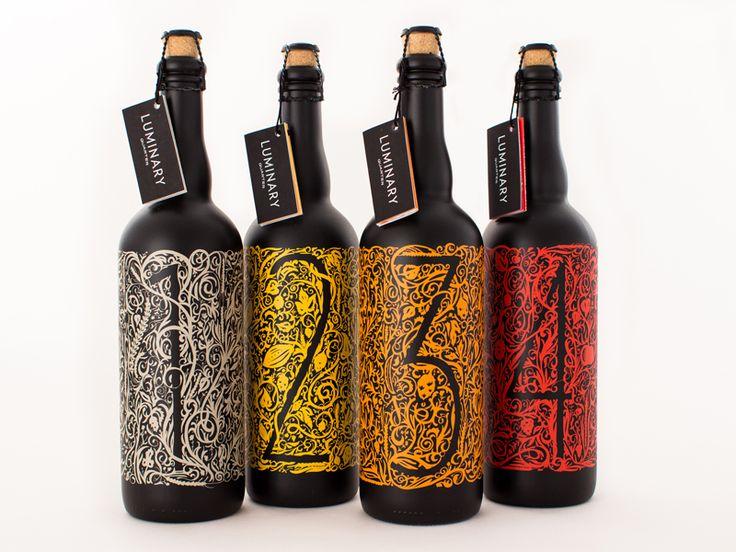 Luminary Quarter beer bottle label design by Philadelphian design student Josh Schott