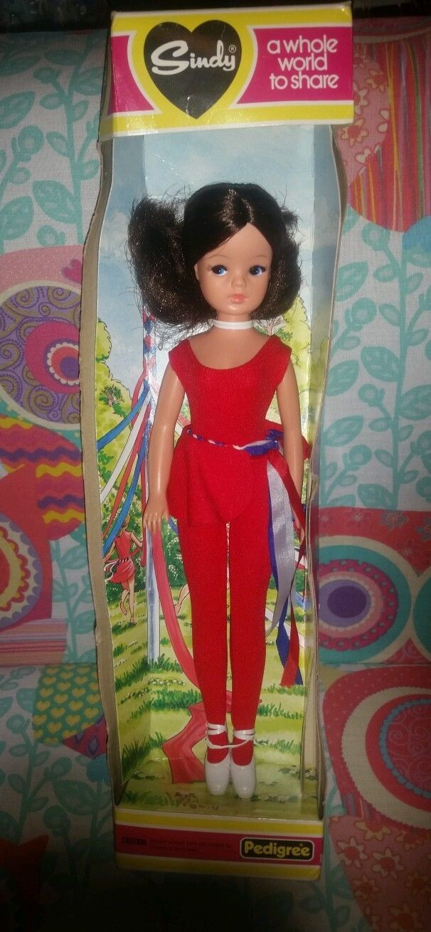 My sister had this one but with red hair. Vintage Pedigree Sindy doll 1982 dancer boxed   65.32+4