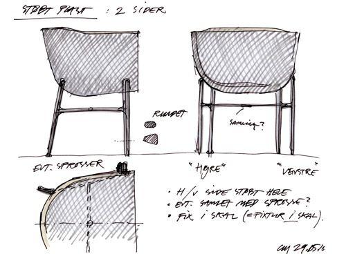 sketch - Fritz Hansen - Minuscule Chair by Cecilie Manz