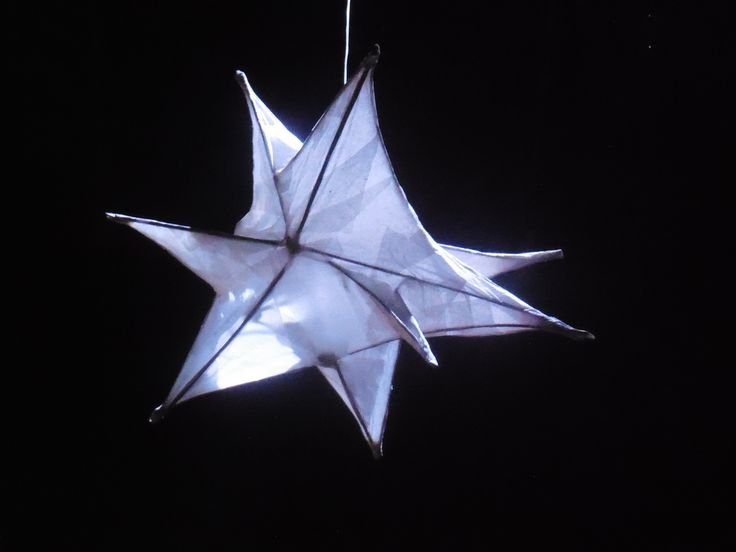 One of the stars that Rhe'Anne created floating from the rafters of the theatre and beautifully lit.  Designer Charlie Cridlan  THE STREETS, Theatre Royal Stratford East.