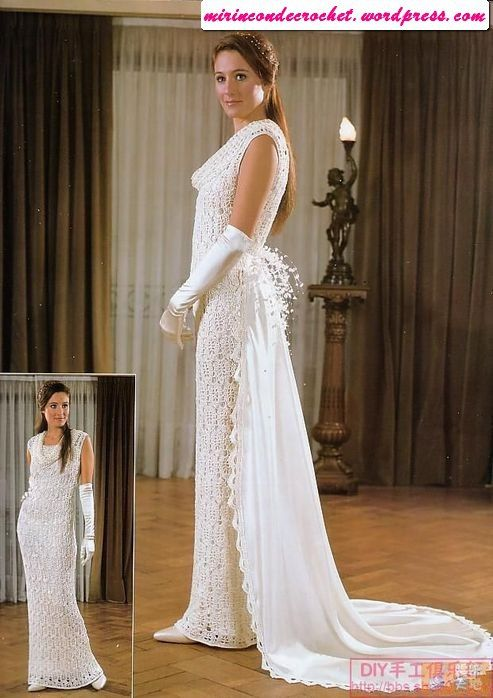 bridal dress - free #crochet pattern