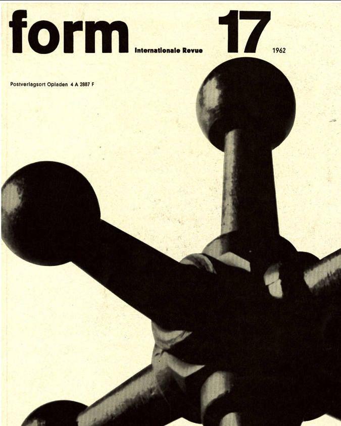 1962 Futurism MidCentury Graphic Design Magazine FORM B&W