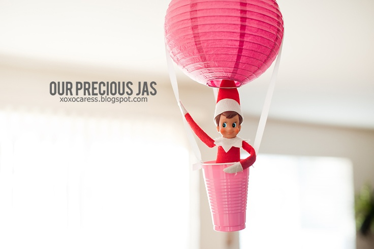 Hot air balloon ride for the elf on the shelf elf on for Elf on the shelf balloon ride