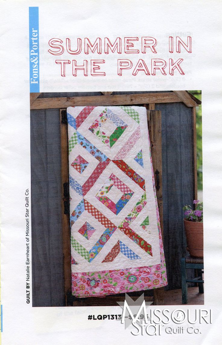 Summer In The Park Pattern From Missouri Star Quilt Co