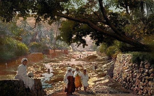 Algérie - Peintre Français Gustave Achille Guillaumet (1840-1887) - Huile sur toile , Titre :