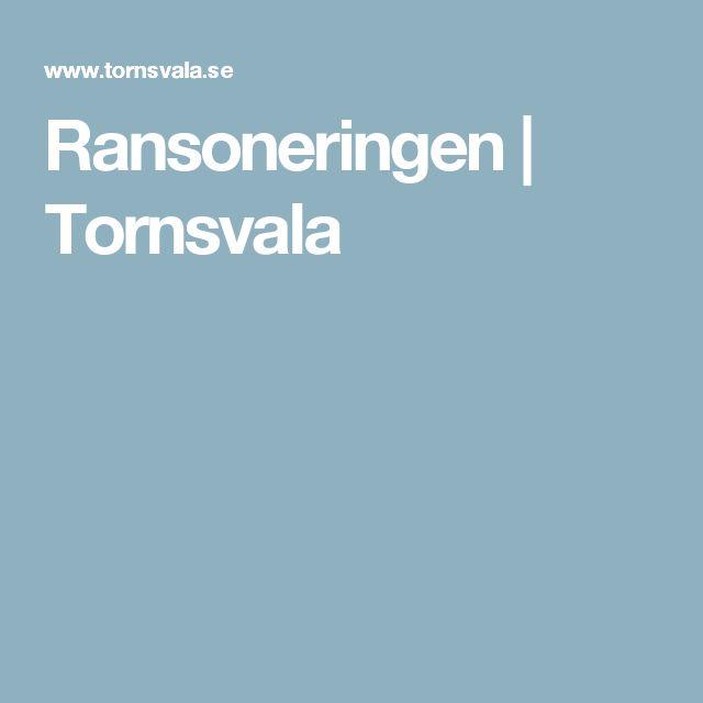 Ransoneringen | Tornsvala