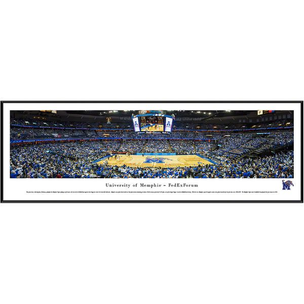 "Memphis Tigers 13"" x 40"" FedEx Forum Standard Frame Panorama - $99.99"