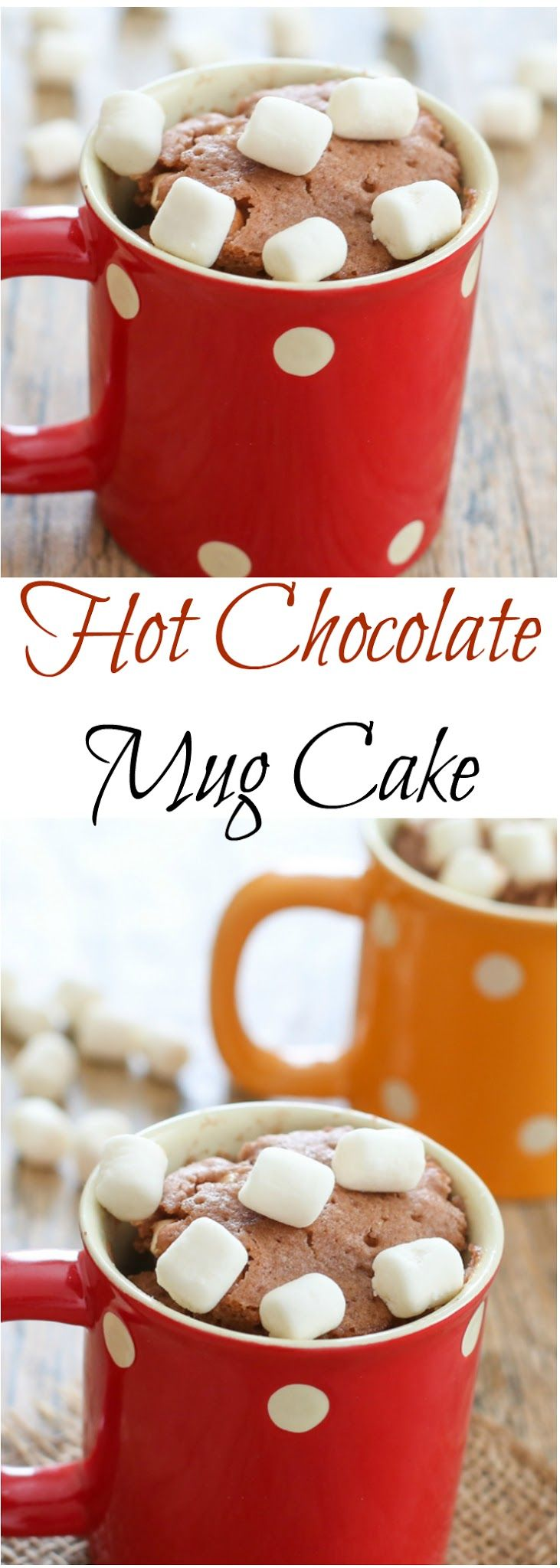 Hot Chocolate Mug Cake. Ready in 5 minutes!