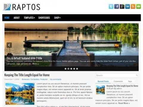 Raptos WordPress theme