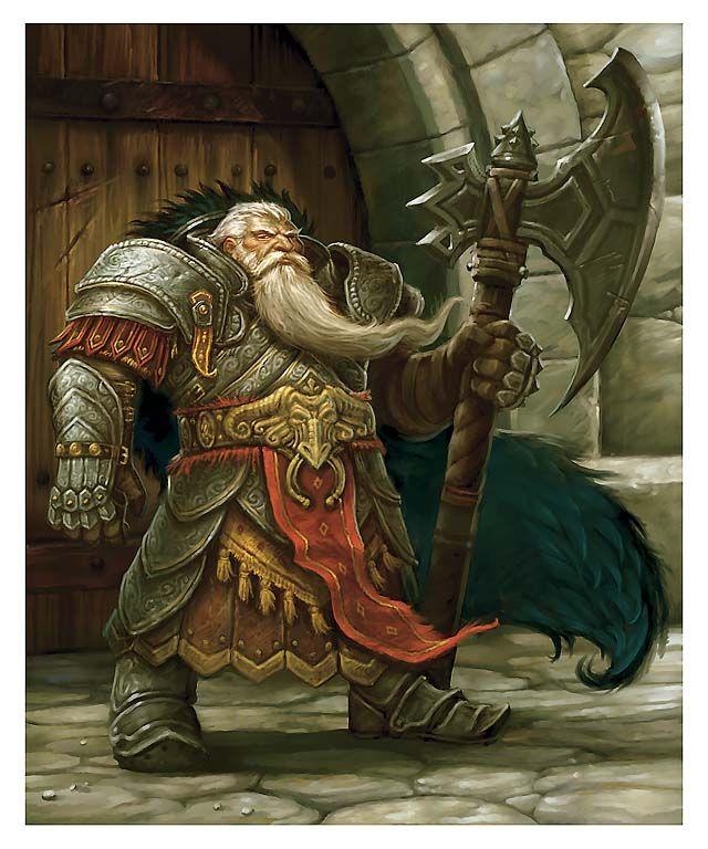 Dwarf king, warrior, baron, giant axe, great armor. RPG, D&D, DnD, concept art, fantasy character